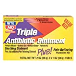 Rite Aid Triple Antibiotic Ointment Plus Pain Relieving 2 X 1 Oz Tubes
