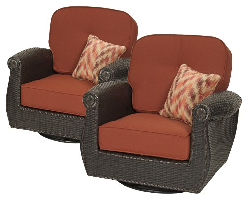 Breckenridge Swivel Rocker 2 Piece Set Brick- by La-Z-Boy Outdoor photo