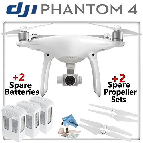 DJI-Phantom-4-Quadcopter-w-Ready-To-Fly-Bundle-Includes-3-Intelligent-Flight-Batteries-2-Spare-Propeller-Sets-and-more