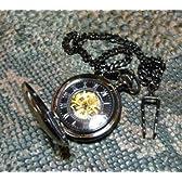 アンティーク彫刻D ブロンズ 懐中時計