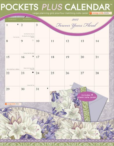 Forever Yours Floral 2012 Pockets Plus Calendar 16013