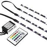 """Minify Bandes LED pour rétro-éclairage d'écran TV 24-60"""" (61-152 cm) avec chargeur et télécommande inclus Lumière noire L (42-60 Zoll / 107-152cm) RVB"""