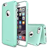 Rearth Ringke Slim Full Top and Bottom Coverage Premium Dual Coated Hard Case for iPhone 6 - Retail Packaging - Mint (Logo Cut Out)