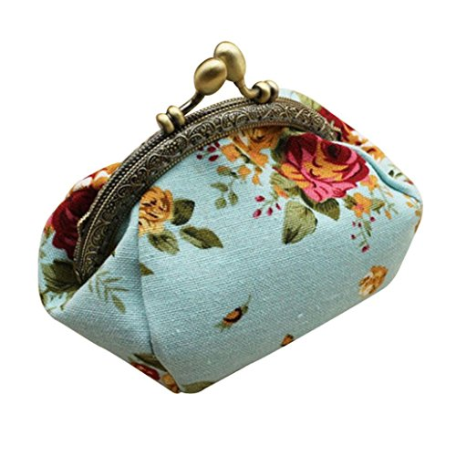 Wallet,toraway Lady Vintage Flower Mini Coin Purse Wallet Clutch bag (Blue) (Vintage Coin Purse compare prices)