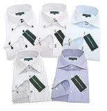 (グリニッジ ポロ クラブ) GREENWICH POLO CLUB pd LL-ゆったりレギュラー 5枚セット ワイシャツセット yシャツ ボタンダウン ホリゾンタル 形態安定 長袖ワイシャツ ビジネス 白 メンズ