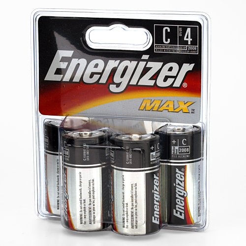 Energizer C Cell Alkaline Battery Retail Pack - 4-Pack front-926877
