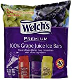 Welch's 100% Juice Ice Bars 40ct Bag wt. 5 lbs
