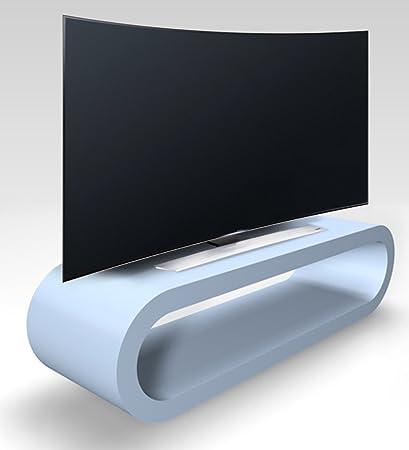 Rétro Conception Cerceau Style Bébé Bleu Mat Meuble Tv / Armoire 110cm