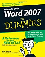 Word 2007 For Dummies Front Cover