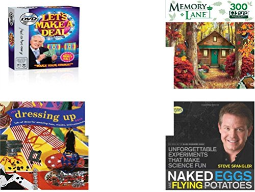 [Children's Gift Bundle - Ages 6-12 [5 Piece] - Let's Make a Deal DVD Game - Hidden Retreat Memory Lane 300 Piece Puzzle - Sleeping Beauty Prince Philip Bean Bag Plush Toy 9