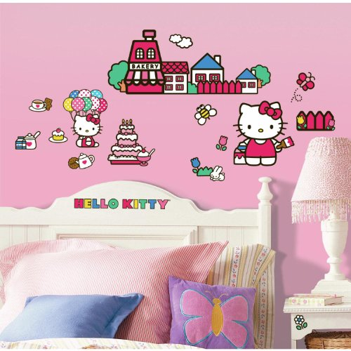 Roommates Rmk1678Scs Hello Kitty The World Of Hello Kitty Peel And Stick Wall Decals front-1010016