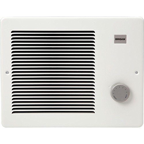 Broan 174 Wall Heater, 750/1500 Watt 120 VAC, White Painted Grille
