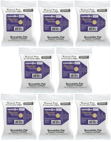 Babies R Us Supreme Travel Pack Wipes - 12-Count (Pack of 8)