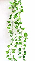 Miracle Retail Artificial Hanging Creeper Plant, Set of 2(Green, 210cm)