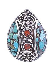 Tibet Jewelry,Coral Ring,Tibetan Jewelry,Ring - B00LB06MJQ