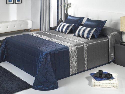 Colcha bouti jacquard Nevada - cama 105 cm - Azul