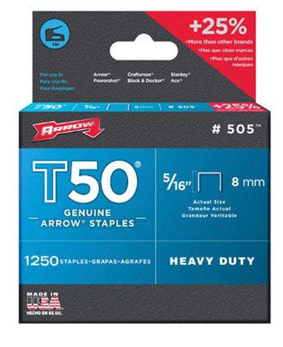 Arrow T50 Staples For T50 Series Staple Guns