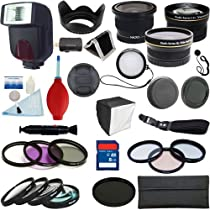 PLR Optics 58mm Complete Pro Essential Premium Kit - Includes: TTL FLash + .42X Fisheye Lens + .43x Wide Angle Lens + 2.2x Telephoto Lens + Filter Kit (UV, CPL, ND9, FLD) + Macro Close Up Set + Special Effects Kit (4XStar, Soft Focus, Warming) + Accessory Kit For Canon Digital EOS Rebel SL1 (100D), T5i (700D), T4i (650D), T3 (1100D), T3i (600D), T1i (500D), T2i (550D), XSI (450D), XS (1000D), XTI (400D), XT (350D), 70D, 60D, 60Da, 1D C, 50D, 10D, 5D, 1D X, 1D, 5D Mark 2, 3, 7D, 6D SLR Camera