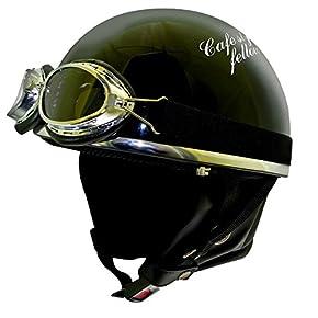 RIDEZ ライズ VANCH VINTAGE HALF HELMET ビンテージハーフヘルメット A5 ブラック/ホワイト フリー 57-59cm