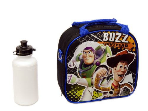 Toy Story Buzz Lightyear Black Lunch Bag with Bottle - 1