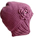 Special Price for  Frost Hats M-194 PURPLE Winter Hat for Women Aviator Knitted Beanie Hat for Girls and Women Stylish Beanie Hat Frost Hats