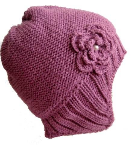Frost Hats M-194 PURPLE Winter Hat for Women Aviator Knitted Beanie Hat for Girls and Women Stylish Beanie Hat Frost Hats Reviews