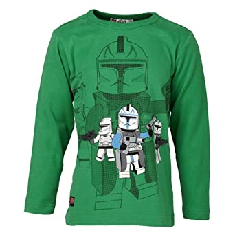 LEGO Wear Sweatshirt  Col ras du cou Manches longues Garon - Vert - Grn (870 GREEN) - FR : 11 ans (Taille fabricant : 146)