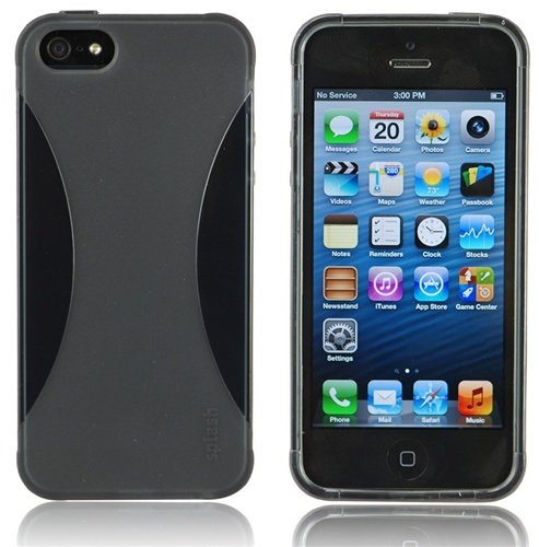 Special Sale Splash VAPOR Slim Fit Flex Case for iPhone 5 - BLACK