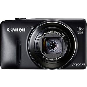 Canon 9340B001 POWERSHOT SX600 HS BLK 16MP 18X OPT 3.0 LCD KIT