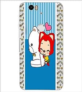 PrintDhaba Cartoon D-3380 Back Case Cover for HUAWEI NEXUS 6P (Multi-Coloured)
