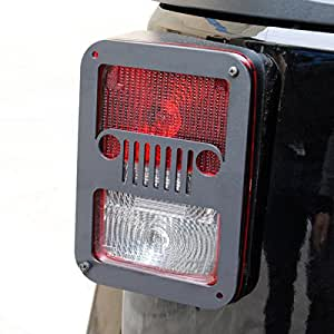 tail light guards for jeep wrangler 2007 2016 pair jeep. Black Bedroom Furniture Sets. Home Design Ideas