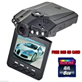 "Simple vsky®New 1080P HD 2.5"" LED HD VIDEO CAR Dash Vehicle Recorder SPORT CAMERA Video LCD 270° Comes With 8G SD Memory Card! Factory Seller!"