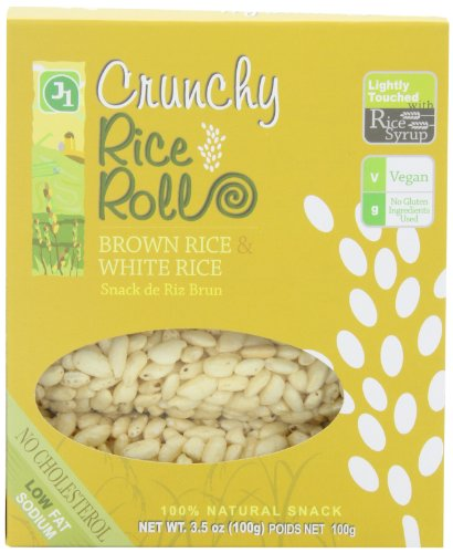 J1 Crunchy Rice Rolls Brown Rice and White Rice, 3.5-Ounce Packages (Pack of 12)