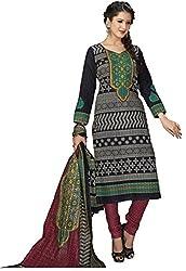 Komal art Ethnicwear Women's Dress Material(Komal art_Preyanshi5111_Black_Free Size)