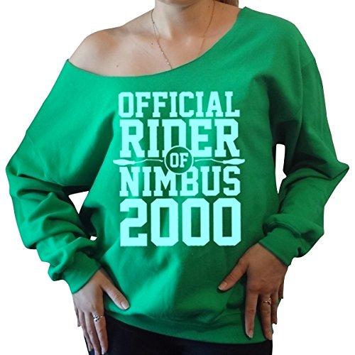 Harry Potter Nimbus 2000 Slouchy Off The Shoulder Sweatshirt