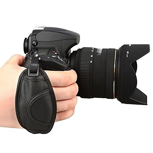 Prost Leather Hand Grip Strap for Canon EOS T5i T4i T3i 60D 70D 5D Nikon D7200 D7000 D600 D800 D90 D5200 D3100 Sony Olympus SLR/DSLR Leather Wrist Strap