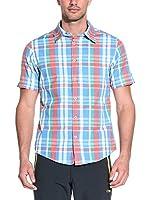 CMP Campagnolo Camisa Hombre 3U79947 (Azul / Rojo)