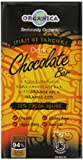 Organica Organic Raisin Dark Orange Oil Zest Chocolate 75 g (Pack of 4)