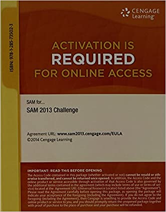 SAM 2013 Challenge Printed Access Card