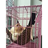 Cat Hammock - Ideal For Cats, Ferret, Rat, Chinchilla, Rabbit, Small Dogs - Pet Cage Hammock - 3 Colors: Leopard