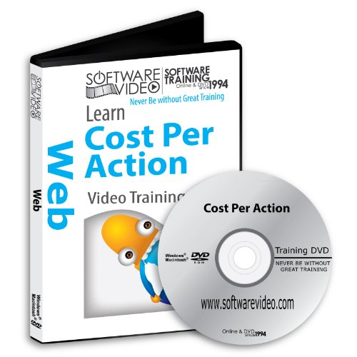 Software Video Learn Cost Per Action Training DVD Christmas Holiday Sale 60% Off training video tutorials DVD