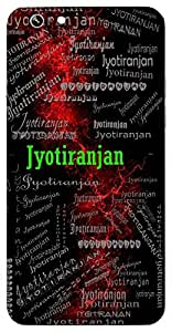 Jyotiranjan (Happy Flame) Name & Sign Printed All over customize & Personalized!! Protective back cover for your Smart Phone : Apple iPhone 4/4S