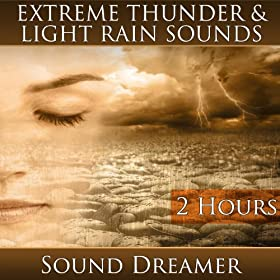 Extreme Thunder and Light Rain Sounds (2 Hours)