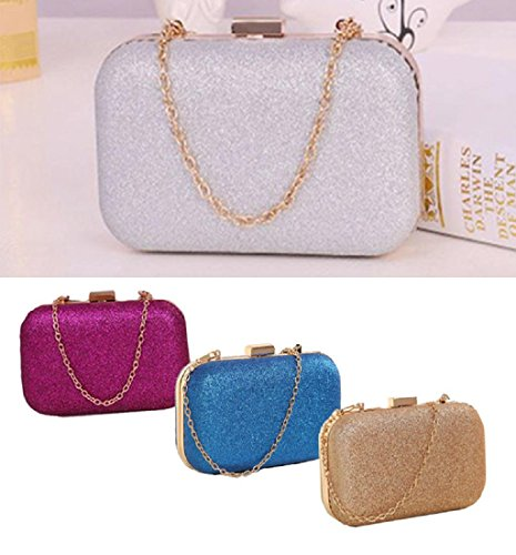 Meily♥TM Fashion Women Clutch Box Evening Party Glitter Chain Hand Bags
