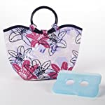 Nantucket Insulated Lunch Bag with Ice Pack (Purple Beach Bloom)