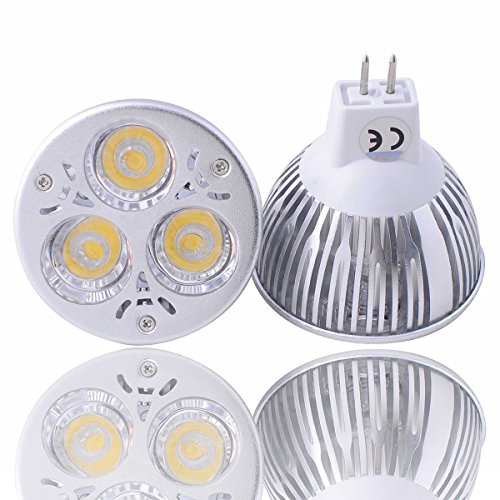 Jacky Led® 1 Pack 100% Original Super Bright Epistar Chips Led Mr16 Dimmable 6W Flood 60 Degree Warm Or Cool White Led Light For Home Dc 12V The Bulbs Can Work With Ac 12V And Dc 12V , If You Want To Have Dimmable Function , Please Use Dc 12V Transformer