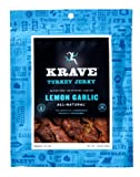 Krave Turkey Jerky, Lemon Garlic, 3.25-Ounce