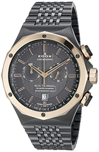 Edox-Mens-10108-37GR-GIR-Delfin-Analog-Display-Swiss-Quartz-Two-Tone-Watch