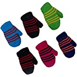 Toddler Or infant Magic Acrylic Insulated Mittens 6 - Pack