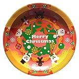 クリスマスパーティーに!★紙皿 ペーパーディッシュ 【ノエル リース】★(8枚入り)